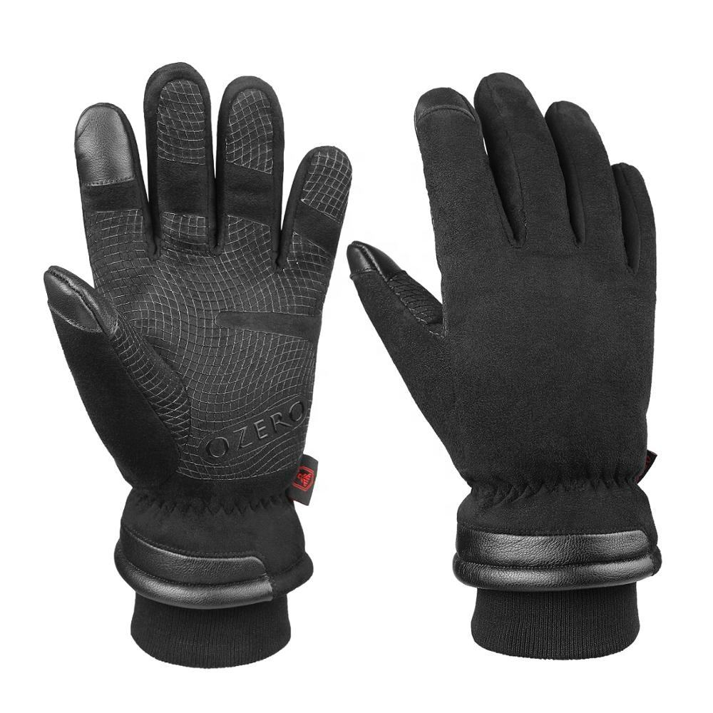 Ozero -30F Extreme Cold Warm Black Winter Weather Snow Gloves Waterproof Touch Screen For Men .
