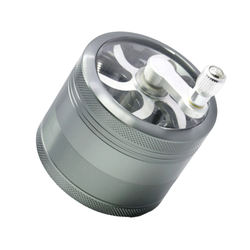 Hot sale high quality zinc alloy grinder with handle for wholesale