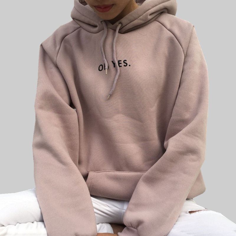 Factory Price Autumn Winter Hoodies Women Plus Size Thicken Warm Sweatshirt Solid Color Pullover Casual Female Hoodies