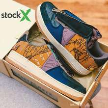 Stock X With Box Travis Scott shoes Air Low 1 Cactus Jack Multi-Color 1s men women Running Shoes Canvas mens sports sneakers