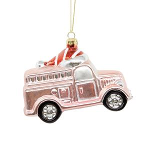 Cheerful Design Wholesale HIPS Xmas Vintage Santa Van Truck Home Holiday Gift Big Christmas Ornament Decoration Car Transport