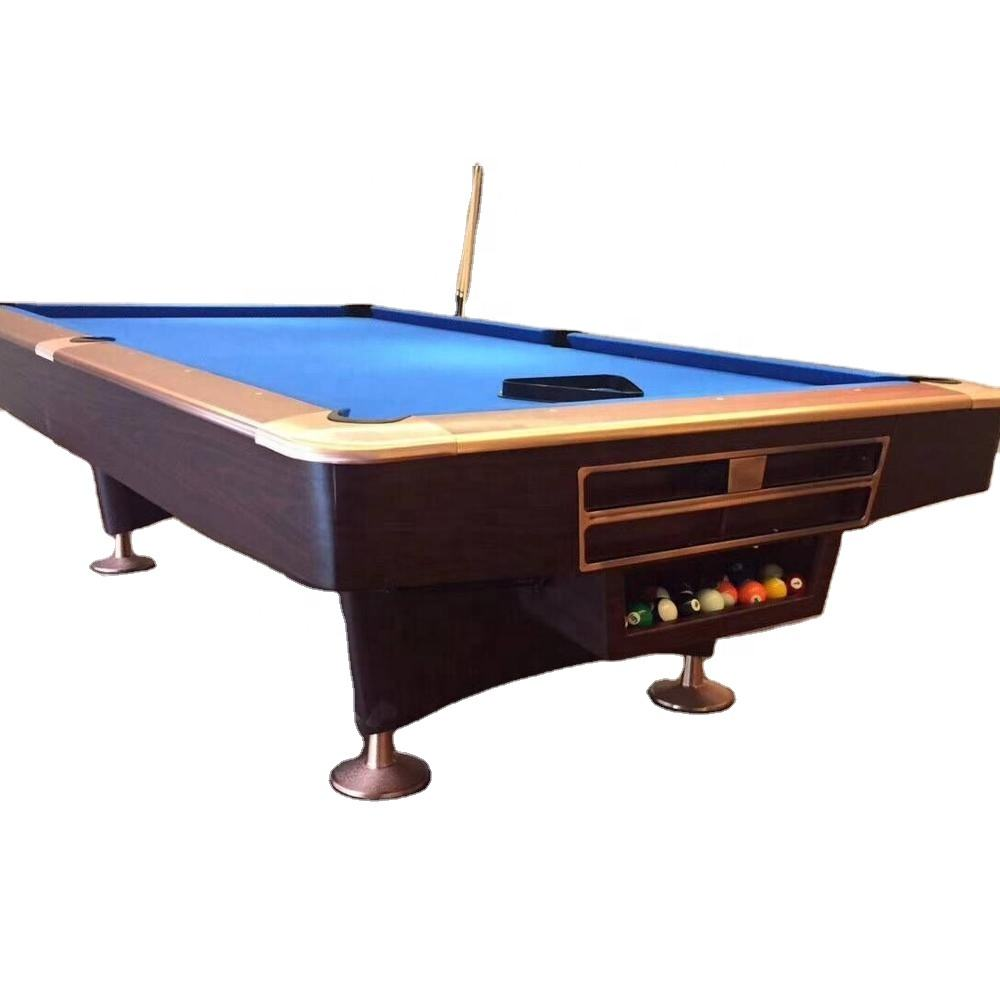 Wholesale modern 9ft Solid Wood Slate Snooker france Pool Table