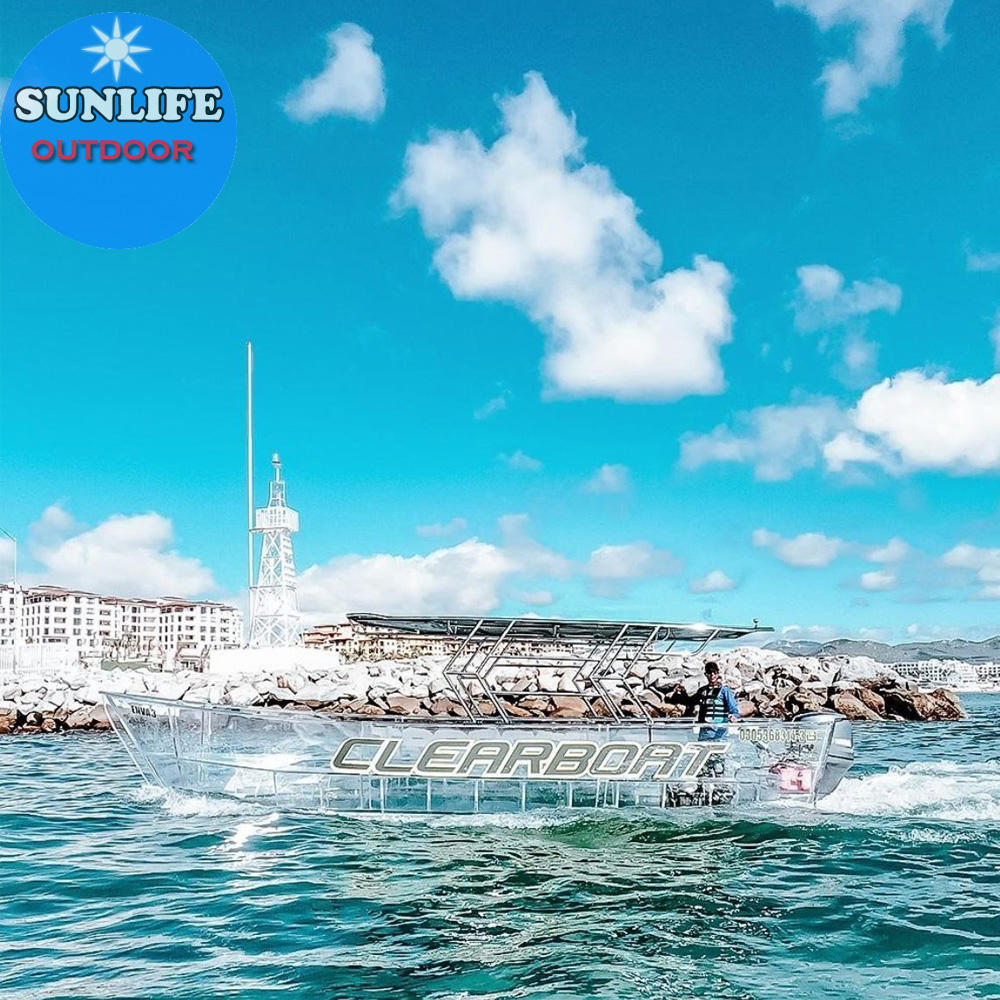 SUNLIFE Best Seller Transparent clear boat for sales to load 10-15 passengers