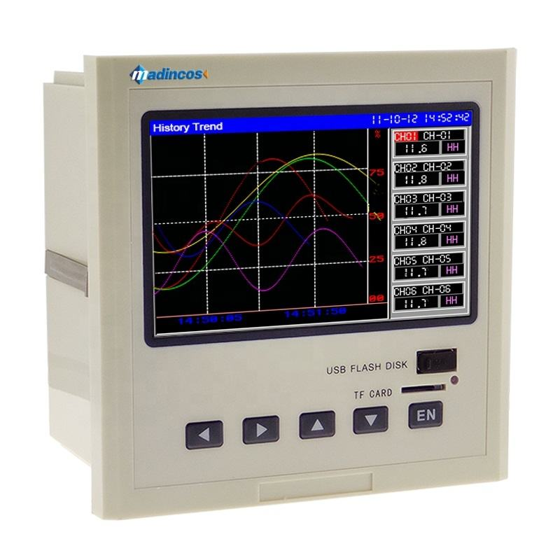 MPR4200:Universal Digital 12 Channels RS485/ Ethernet Pressure Temperature Paperless Chart Recorder with Flow Totalizer,Math