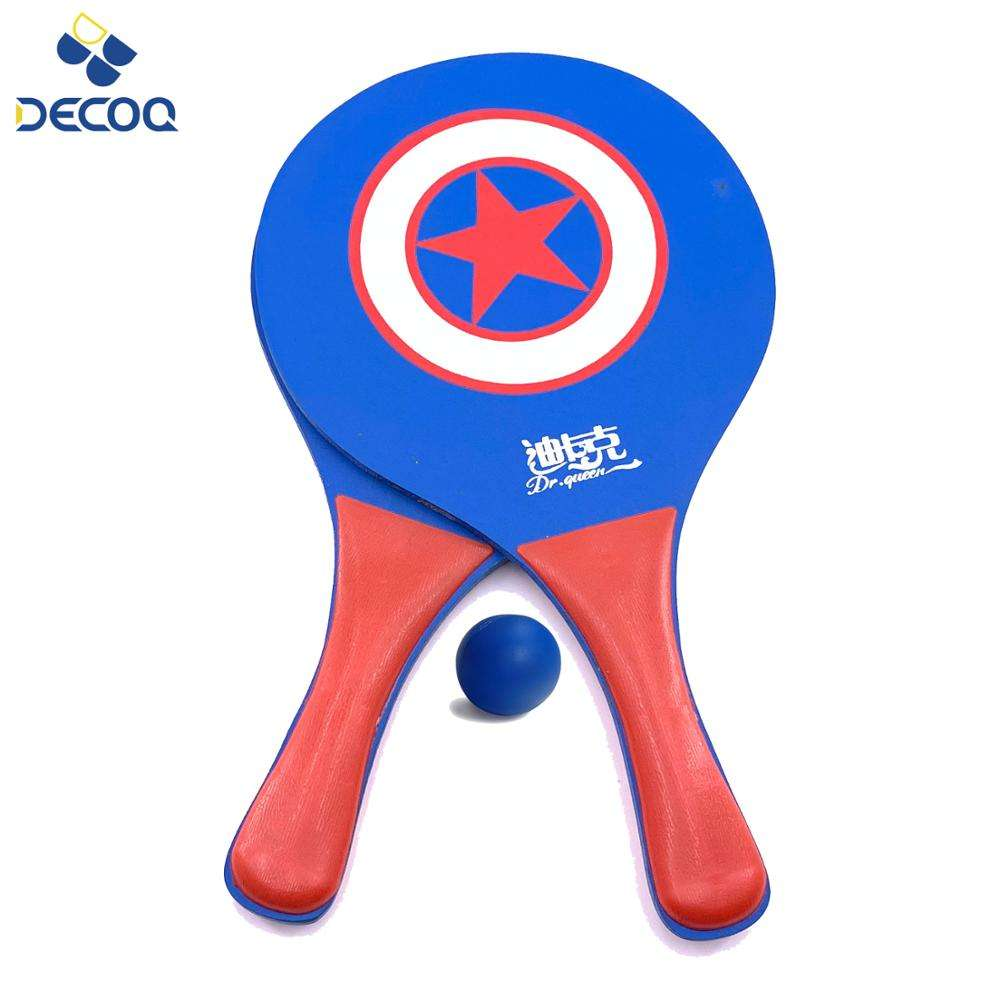 DECOQ Strand Apparatuur Professionele Houten Strand Bat Tennis Paddle <span class=keywords><strong>Racket</strong></span> voor Kinderen Training Sport Game