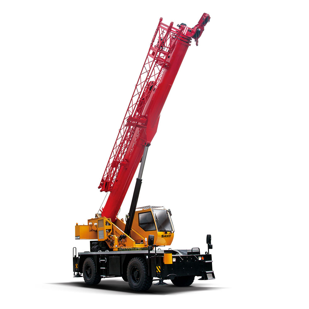 SANY SRC300 30 Tons Full-Extend Boom+Jib 45.2 M Rough-terrain Truck Mounted Crane Used in Unit State