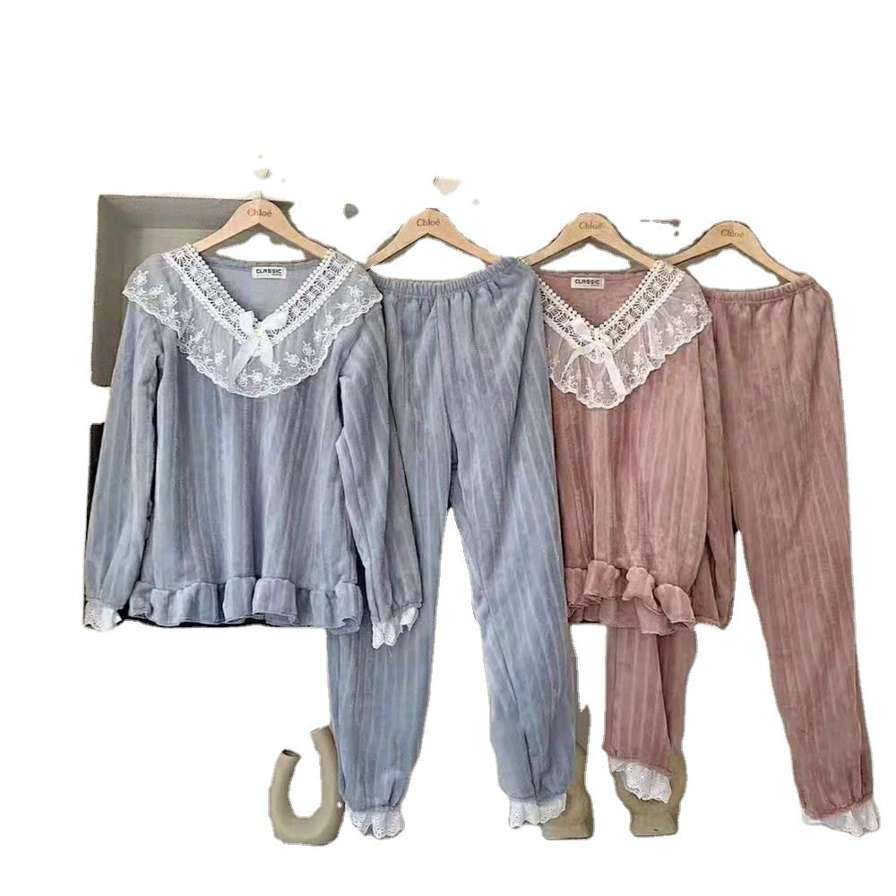 Clace warm suit imported from Korea women warm oral pajamas