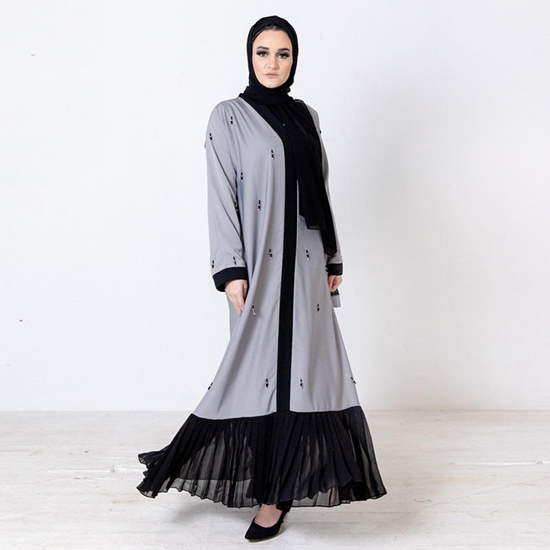 Z013 nature cotton soft white lace dress with plus size kebaya modern simple round collar design low wholesale price abaya