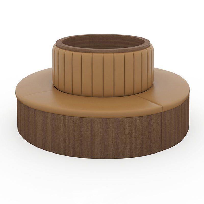 YB-SL 20051K Customized Round Wooden Restaurant Cafe Furniture Restaurant table chair booth sofa seating