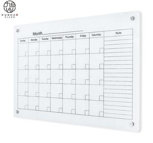 magnetic glass calendar dry erase board weekly planner board with fast shipment