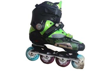 Freestyle Slalom Hard boot Flashing Roller Inline Skate For Adult