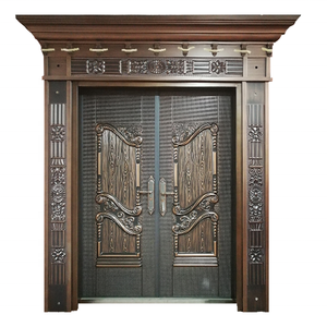 Modern Wooden Door Designs Metal Doors Aluminum Casting Front Doors Decorations For Home