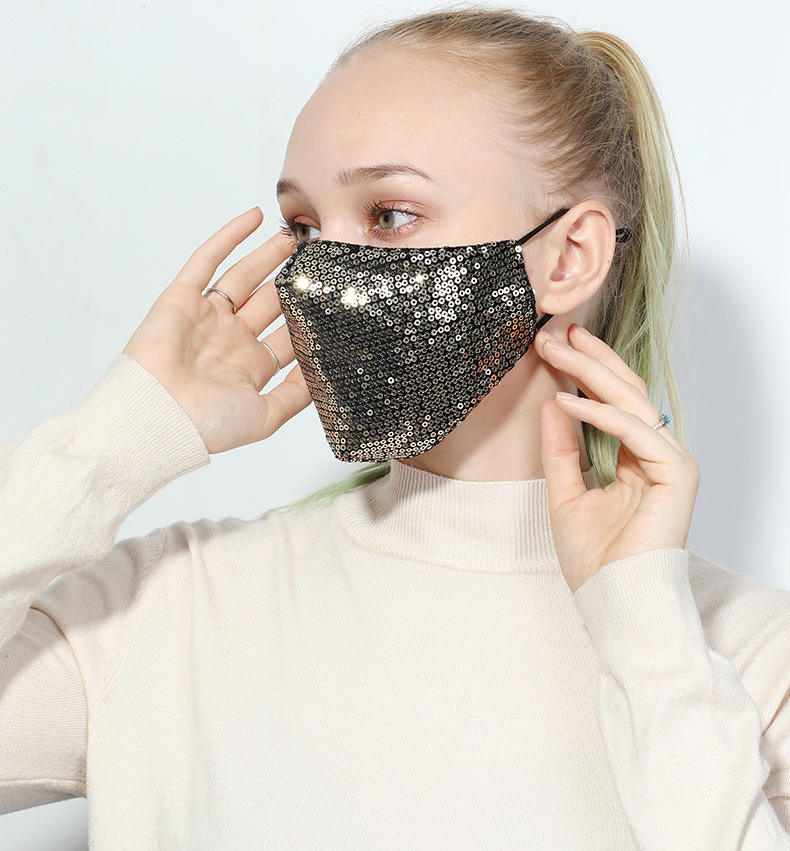 Glitter Sequins Fashion Mask for Decoration Shield