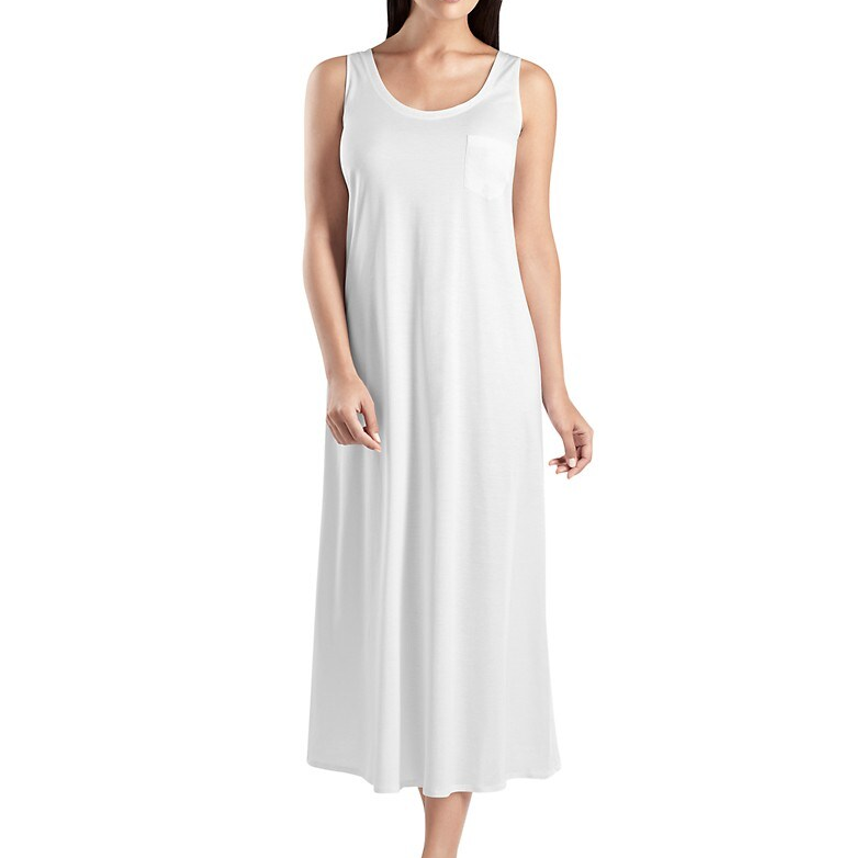 Cotton Jersey Nightgown Super Soft Casual Long Tank Night Gown Pajama Sleepwear Fancy Women Nightwear