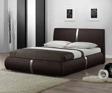 Simple concise modern leather platform bed frames