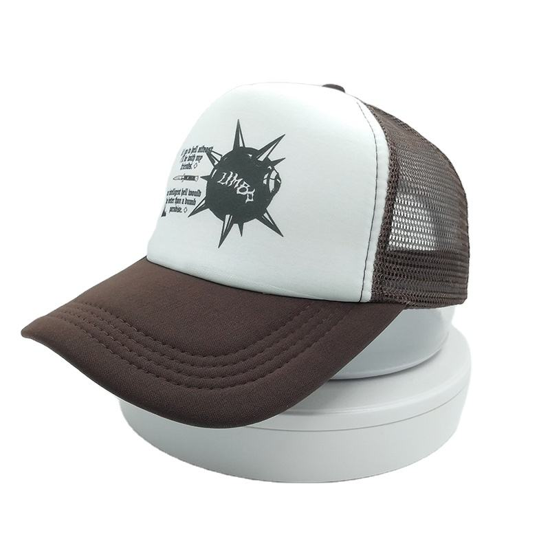 polyester foam caps custom Sublimation printing hat character animal design trucker cap Brand hat