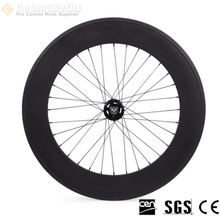 Carbonbikekits Bicycle Wheel 88mm Carbon Tubular Track Wheelset Cycling Wheels  bicycle wheel carbon Track Wheel