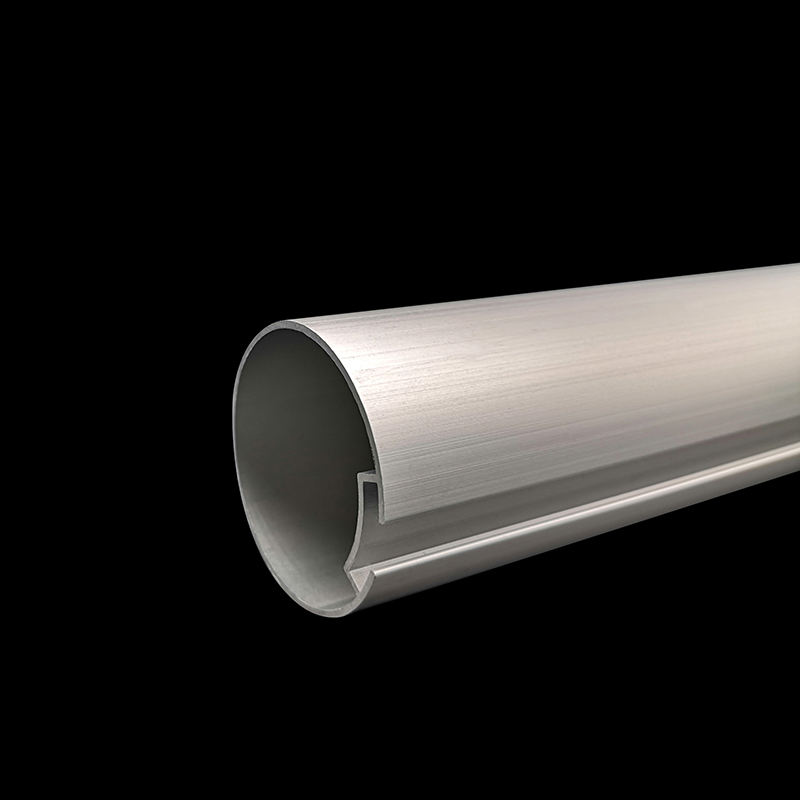 Aluminium profile 6063-T5 anodized spring tube for curtain with 1.2mm thickness