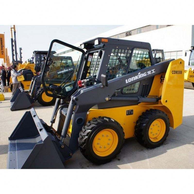 Mini Wheel Skid Steer Loader Forklift Trencher Sweeper Gnhc45