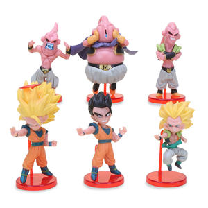6 Stks/set Japanse Anime Dragon Z Ball Z Action Figures Goku Kakarotto Pvc Actie Beeldje Poppen Cartoon Speelgoed Boxed pakket