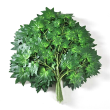 Party Decoration Green Ornamental Artificial Maple Tree Branches and Leaves