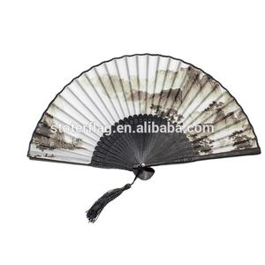 Chinese Folding Stoff Hand Fans/Custom Design Hand Gehalten Fan