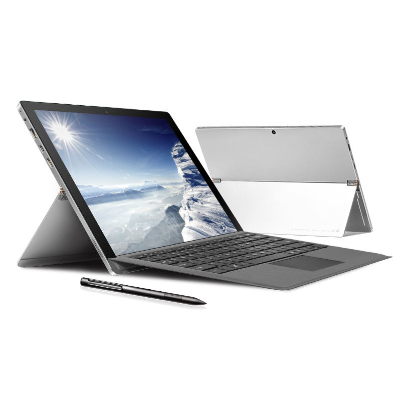 Tablet <span class=keywords><strong>Netbook</strong></span> I7 Layar 12.6 Inci, Tablet Pc Tablette Mini dengan Keyboard 2 En 1 Ram 8Gb dan Laptop