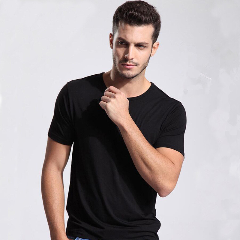 Comfortable Bamboo American apparel man Fitness t shirts blank wholesale organic gym clothing