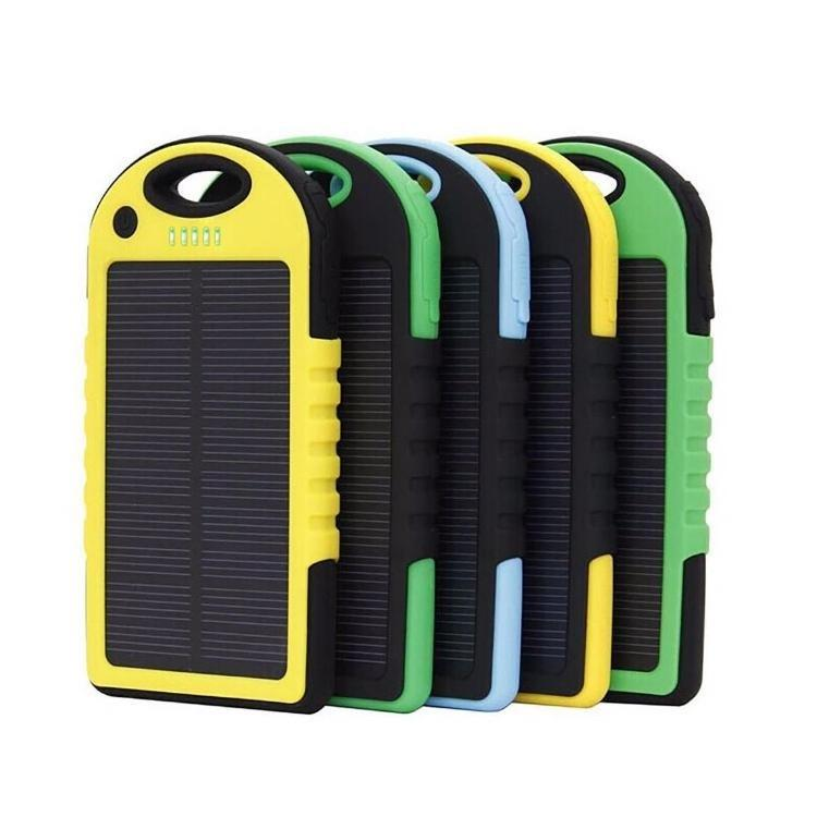waterproof solar mobile power bank 5000MAH cell phone solar charger