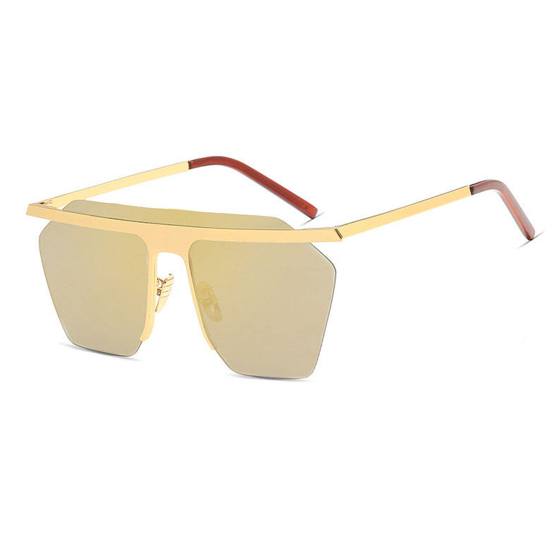 Brand Designer Men Women Goggles Rimless Colorful Lens Shades Glasses Metal Sunglasses