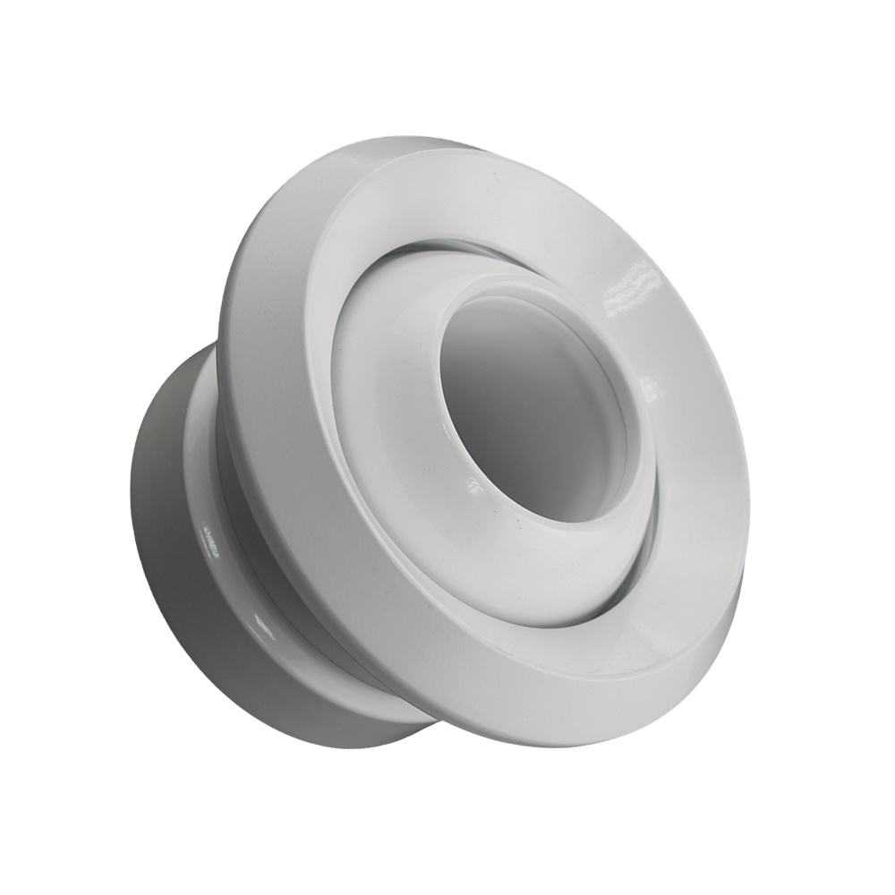 Hvac air supply round duct ceiling ball jet diffuser