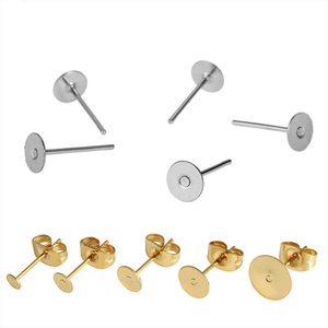 Factory Flat Head Stud Earrings Pin With Hanging Earrings Findings For DIY Earring Making