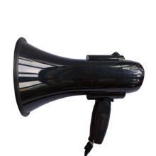 Megaphone 30 Watt Power Megaphone Speaker  Siren/Alarm And Music Modes with Volume Control and Strap BULLHORN