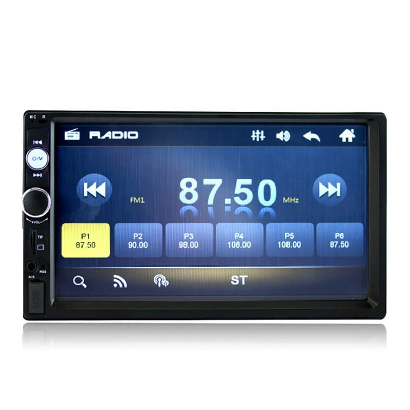 Doppel Din Auto mp5 Player Radio FM AM Touch Screen 7 Zoll Universal Stereo USB TF Karte Player Kopf <span class=keywords><strong>Einheit</strong></span> bluetooth Spiegel Link
