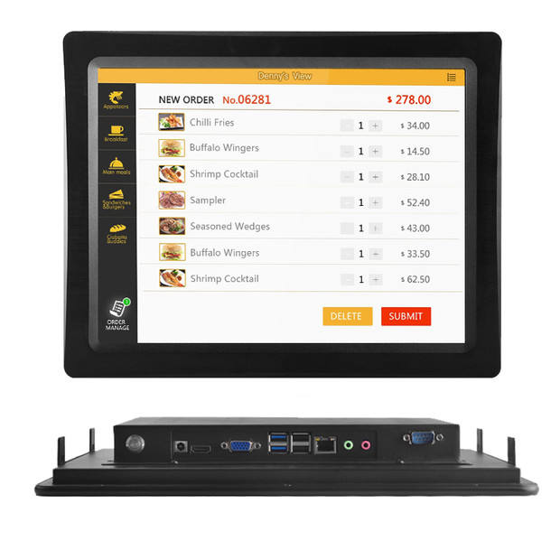 "Rugged industrial 10"" 12""15""17""19""21"" IP65 touch panel Tablet pc computer pc for Wins/Linux desktop touch all in one pc"