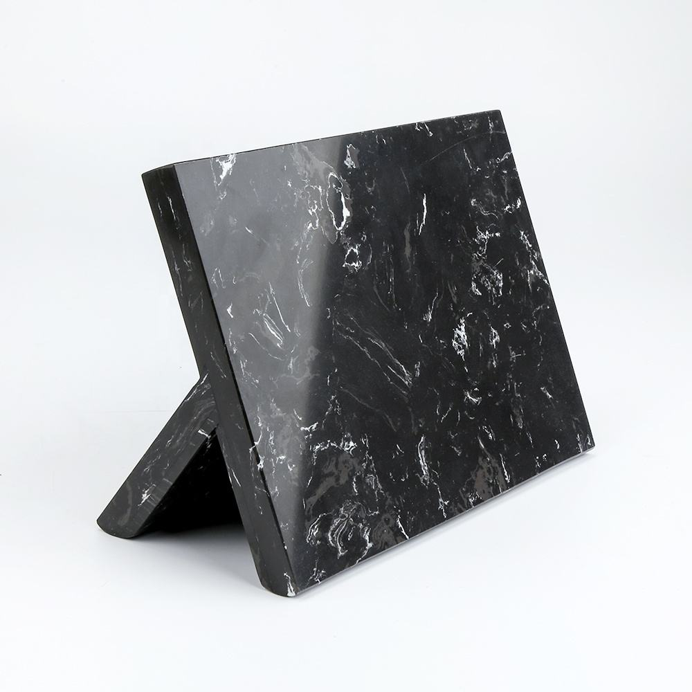 Artificial Marble Magnetic Knife Block Stand Holder Strong magnetic Compatible with all size knife
