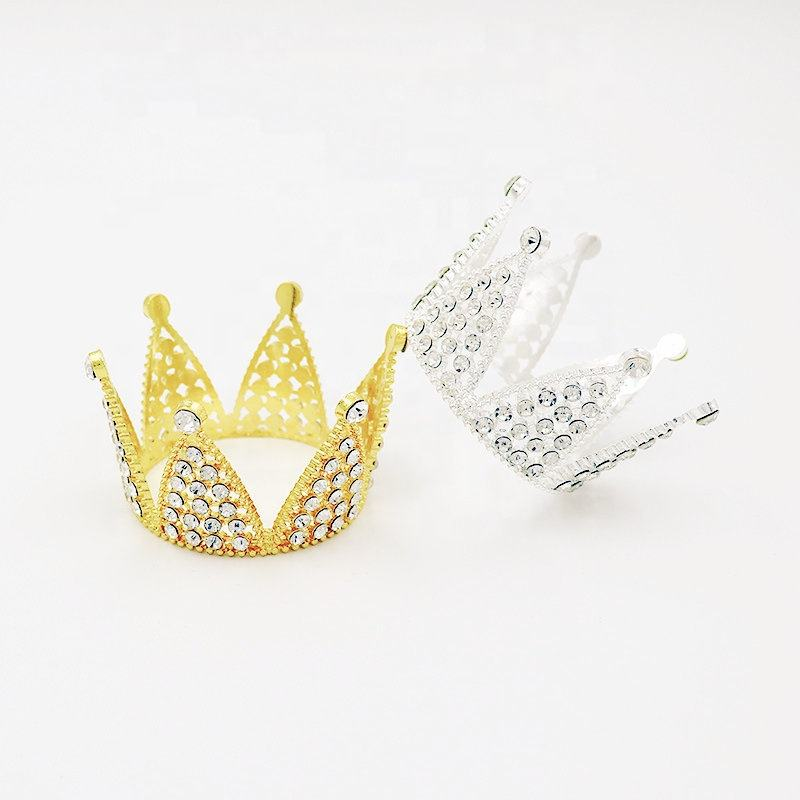Factory wholesale customized mini Rhinestone full round crowns Small Cute Pony Tiara For Kids