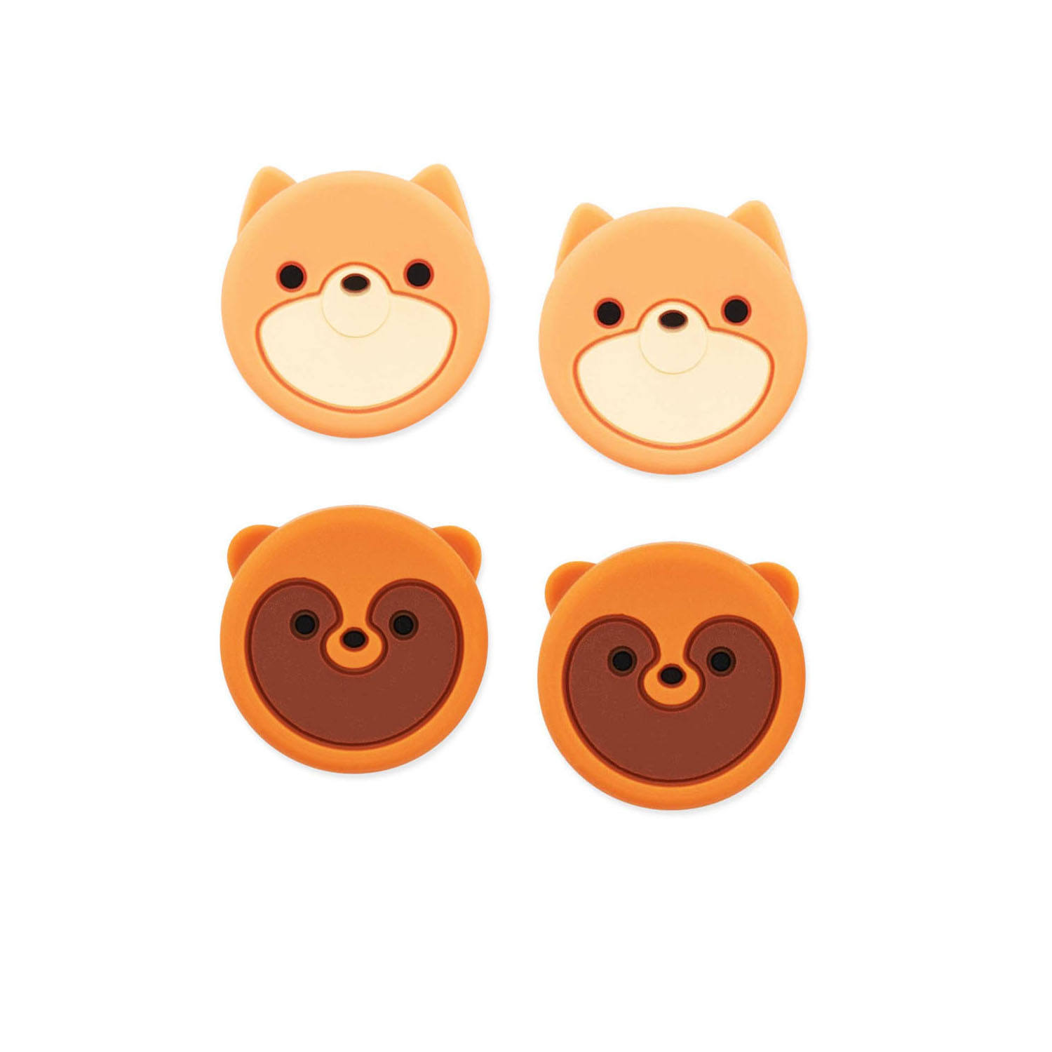 GeekShare Cute Animal Thumb Grip Cover For Nintendo Switch & Switch Lite Soft Silicone Joystick Cover ( Fox & Civet)
