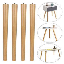 Wood Table Legs Modern Bedside Shaped Slab Custom Oak Tapered Solid Round Side Dining Coffee Table Legs Wood For Table Furniture