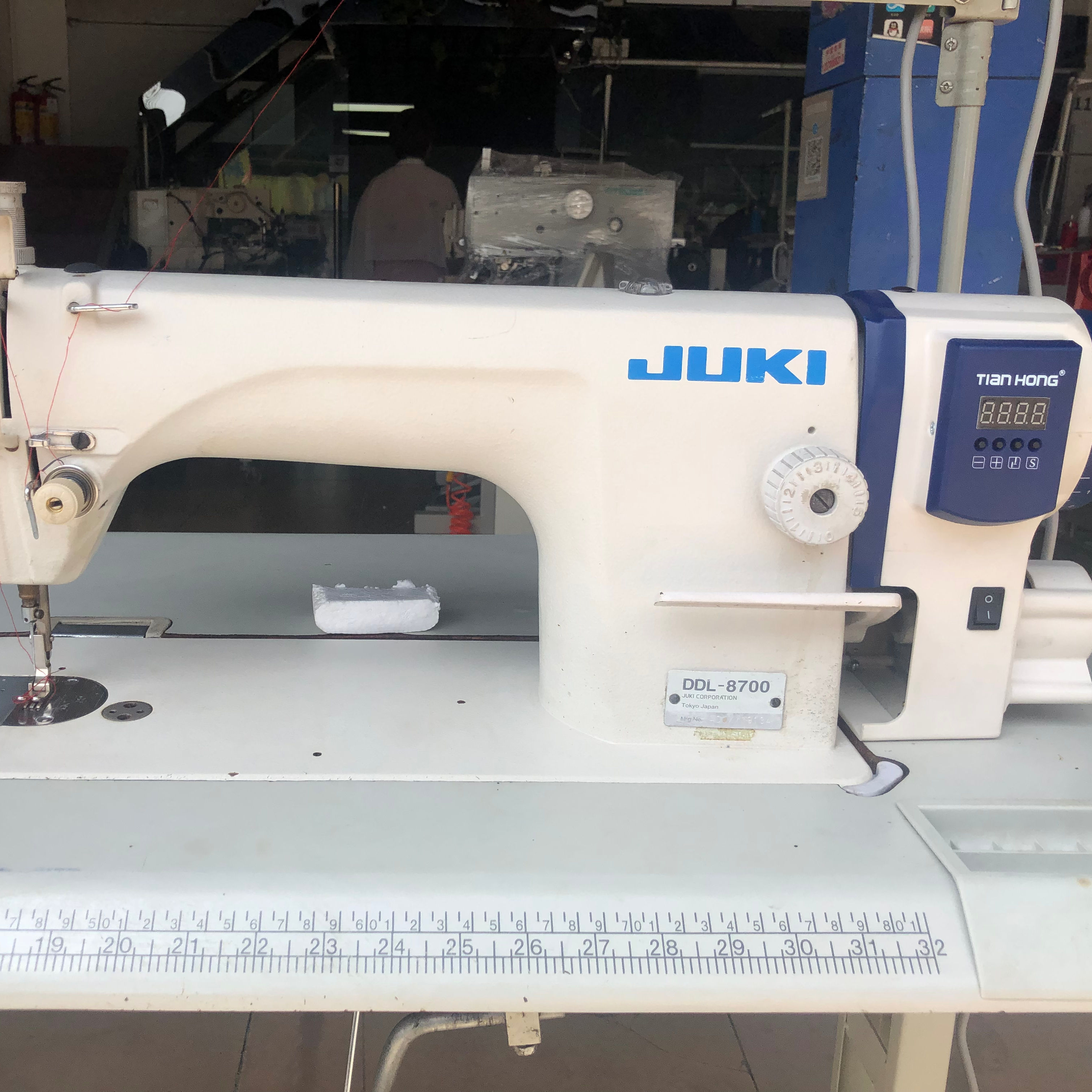 used juki8700 Direct Drive Industrial Lockstitch Sewing Machine with Automatic Thread Trimmer