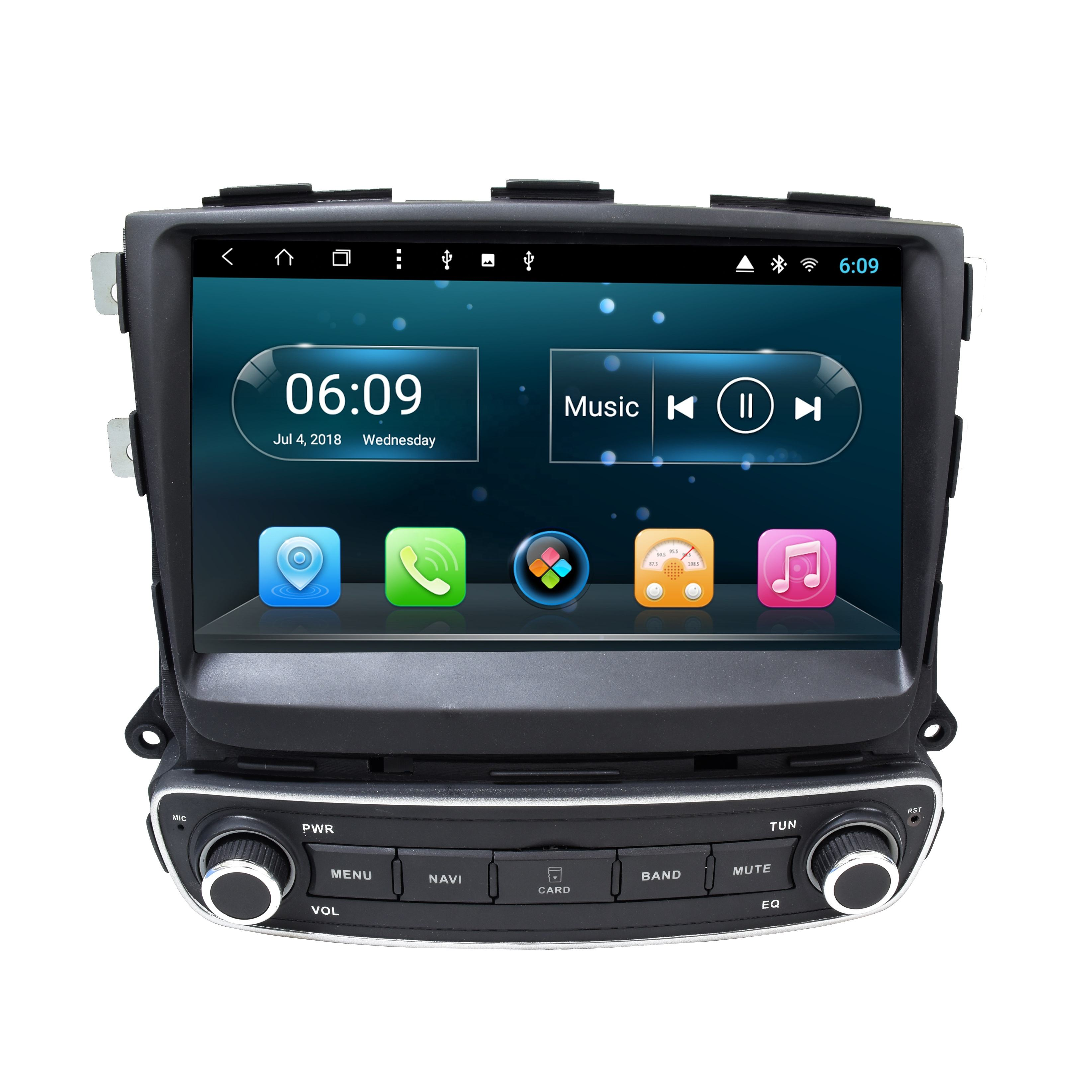 Android 10.0 octacore 1 din 1din car dvd player multimedia for Kia sorento auto audio video radio gps navigation carplay 4G