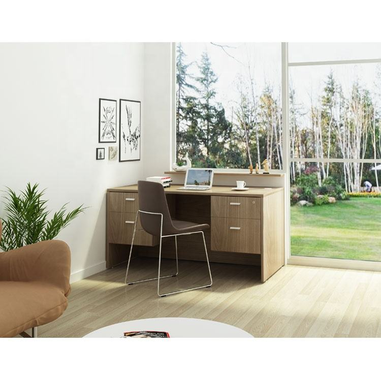 Wholesale Home Office Furniture Corner Luxury Wood Office Desk For SOHO Office