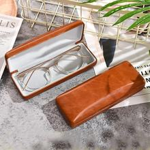 Hard Leather Spectacle Eyewear Case Accessories Glasses Eyeglass case