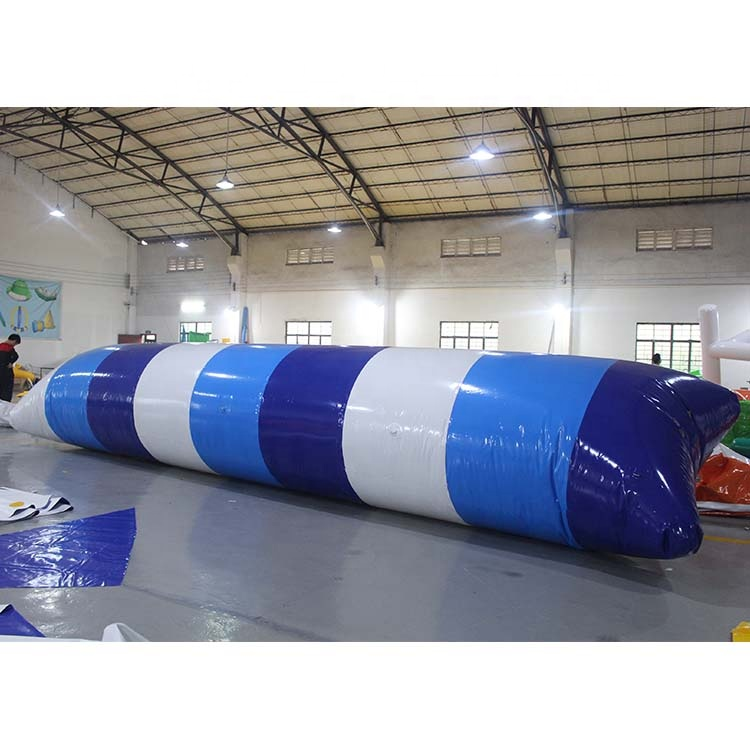 Lake sport Game PVC Inflatable Water Catapult Blob inflatable floating jumping bag