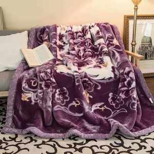 Factory Stock Cheap Raschel Mink Blanket 100% Polyester Blanket In Stock