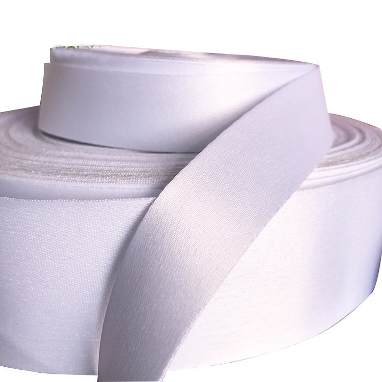 Custom polyester thick white ribbon for sublimation