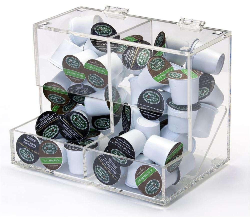Acrylic Display Bin Coffee Condiment Bar Coffee Accessories Countertop Organizer