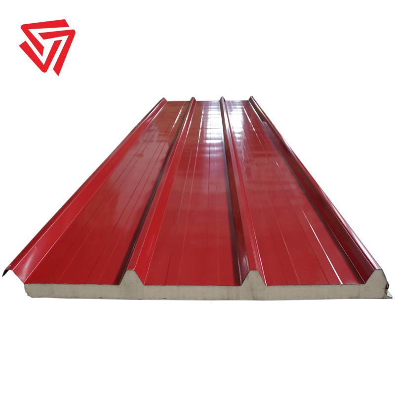 insulated colored zinc pannell pu pur sandwich panels for sale in egypt