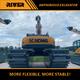 RIVER-200 heavy duty amphibious excavator river dredging excavator amphibious pontoon undercarriage excavator for sale