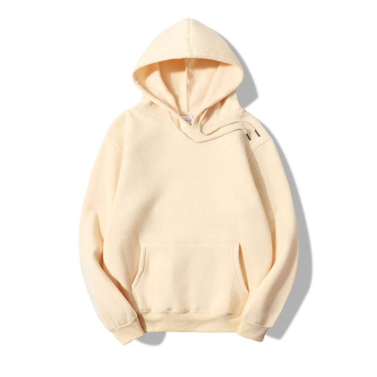 Wholesale Fleece Sweater Fashion Casual Custom Hoodie Pure Cotton Men Pure 100% Cotton Blank Hoodie